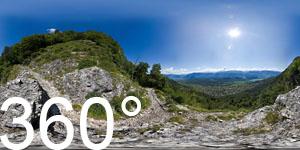 360° Blick vom Mendelsteig auf den Kalterer See
