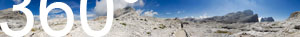 Auf dem Altopiano delle Pale in der Palagruppe vor dem Rifugio Rosetta