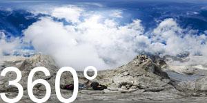 Auf dem Gletscher Fradusta in der Pala-Gruppe