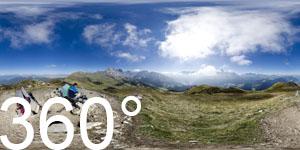360° Ausblick vom Pic zu den Geislerspitzen und den Langkofel