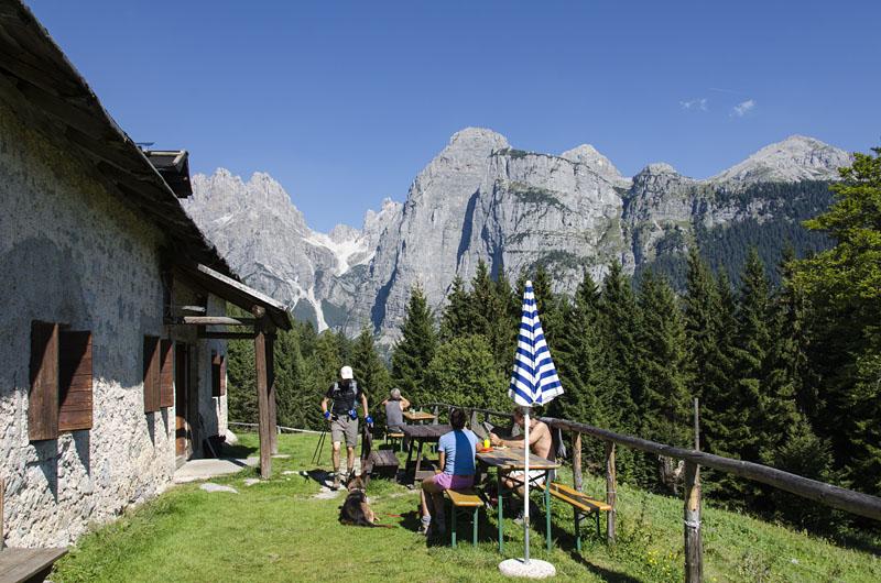 Malga Andalo in den Brenta Dolomiten