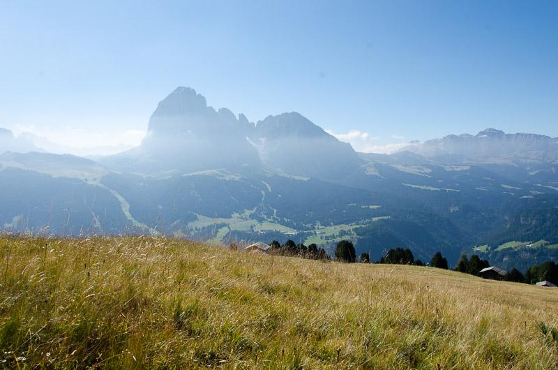 Langkofel und Plattkofel im Grödner Tal