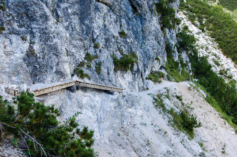 Steig zwischen rifugio Selvata und rifugio Croz dell'Altissimo