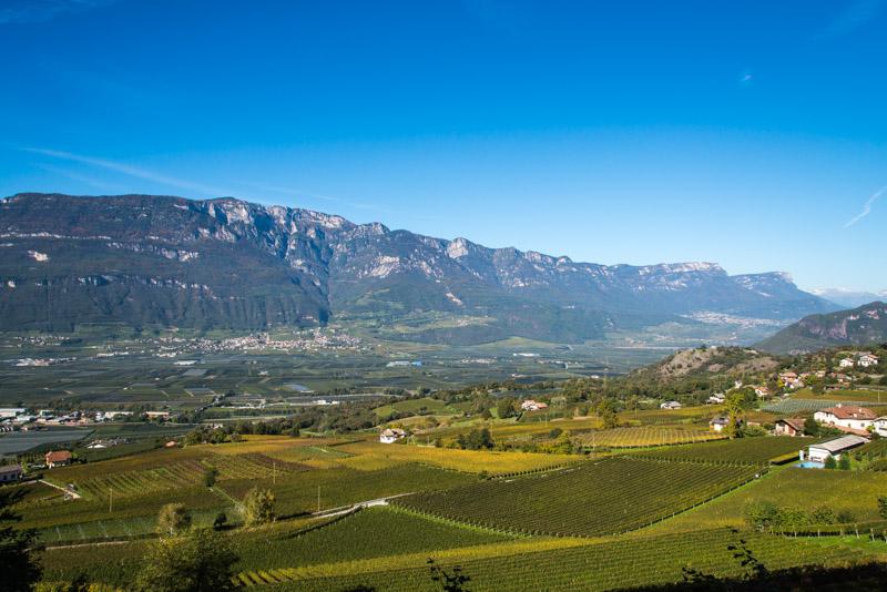 Blick über Montan nach Tramin und Kaltern