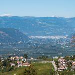 Blick von Montan nach Bozen