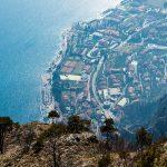 Blick auf Limone am Gardasee von der cima Mughera