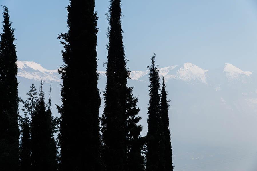 Zypressen am Wegesrand des Saumpfades über Limone sul Garda