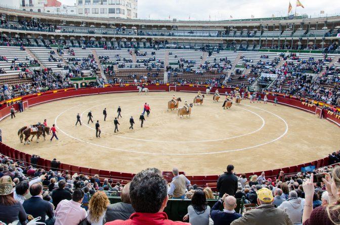 Einzug der Toreros in der Stierkampfarena (Corrida de toros) in Valencia