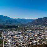 Blick Leiferer Höhenweg nach Bozen