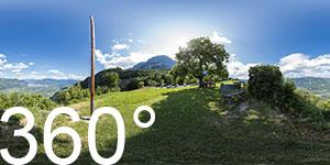 360° Blick vom Lipp in Perdonig nach Bozen inkl. Rosengarten und Schlern