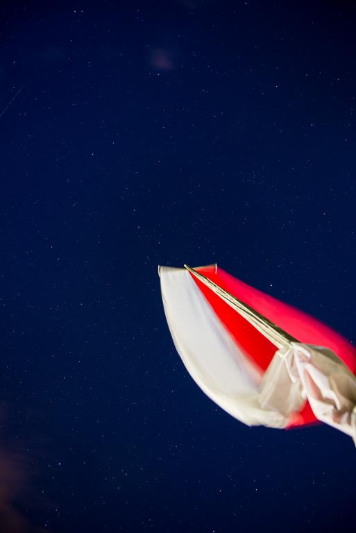 Tiroler Fahne mit Sternenhimmel
