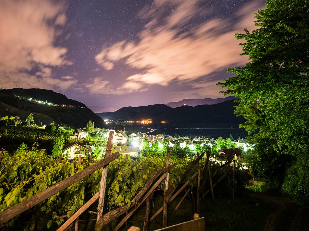 Nachtblick zum Kalterer See