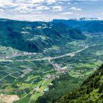 Blick vom Burgstalleck nach Bozen