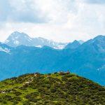 Blick von der Hirzer Alm in Richtung Texelgruppe und Ötztaler Alpen