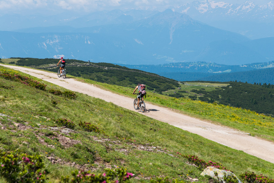 Mountainbiker am Rittner Horn