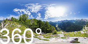 360° auf den Maerins mit Blick ins Nikolaustal (Val San Nicolò)