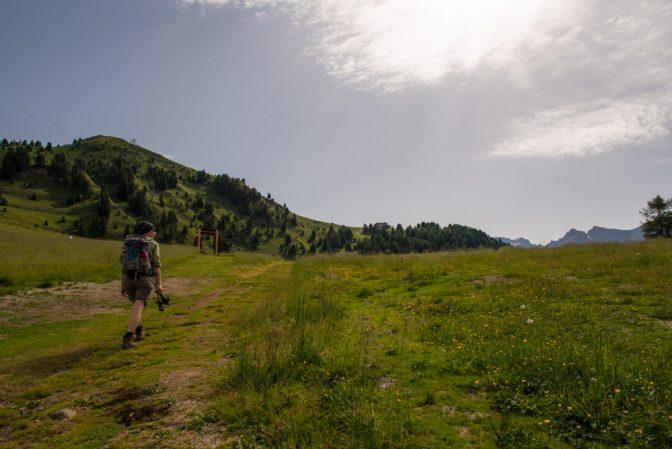 der weitläufige Bergrücken zwischen dem Val San Nicolò und dem Fassatal