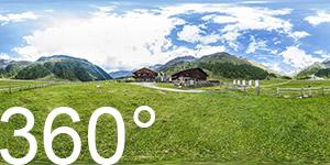 Der Eishof, 1290 erstmals urkundlich erwähnt, heute dient er als Stützpunkt für Bergwanderer und Wanderer die den Meraner Höhenweg erwandern möchten