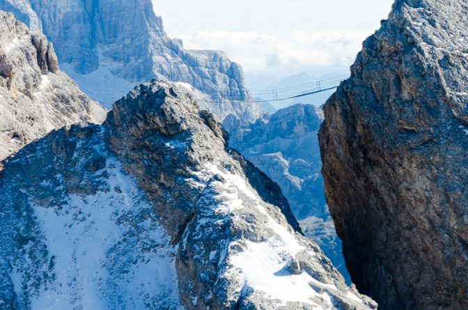 Ponte Cristallo - hier hat Sylvester Stallone den Film Cliffhanger gedreht