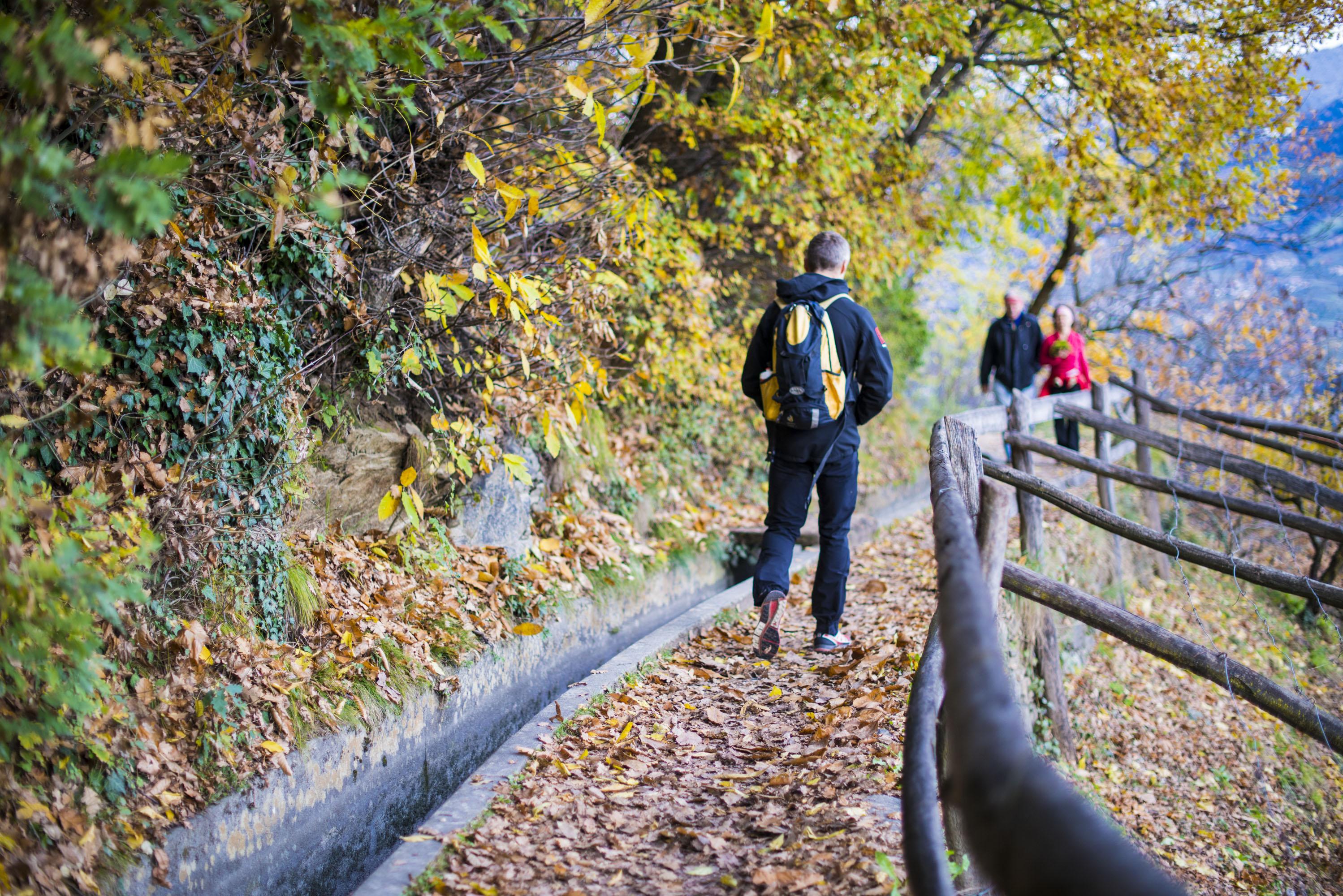 Spaziergänger am Waalweg Marling