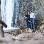 Anni und Dietmar in der Rastenbachklamm beim Wasserfall