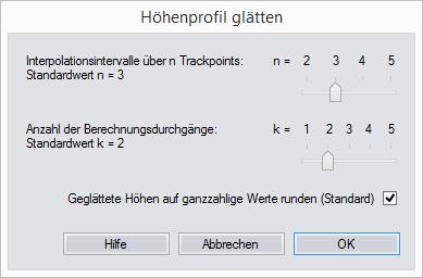 GPS-Track-Analyse.NET - Höhenprofil glätten