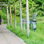 Anni in den Gärten von Schloss Trauttmansdorff