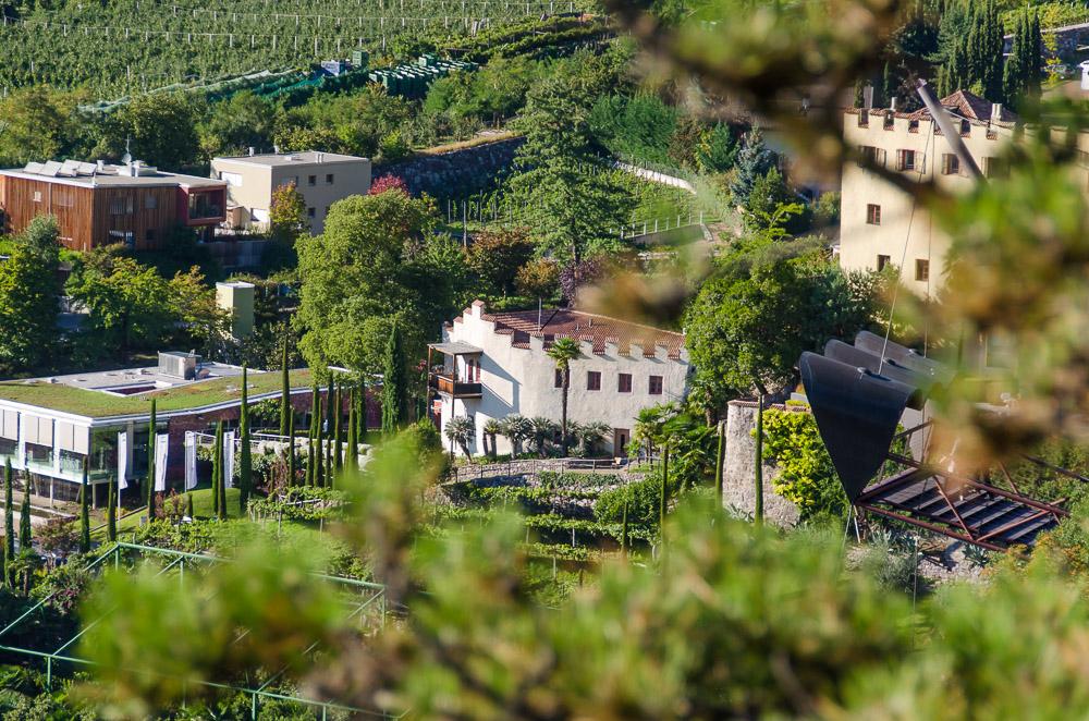 Aussichtsplattform Schloss Trauttmansdorff in Meran