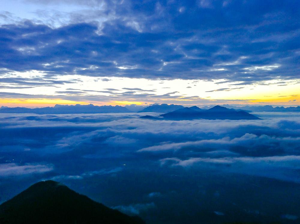 Morgenröte in den Dolomiten