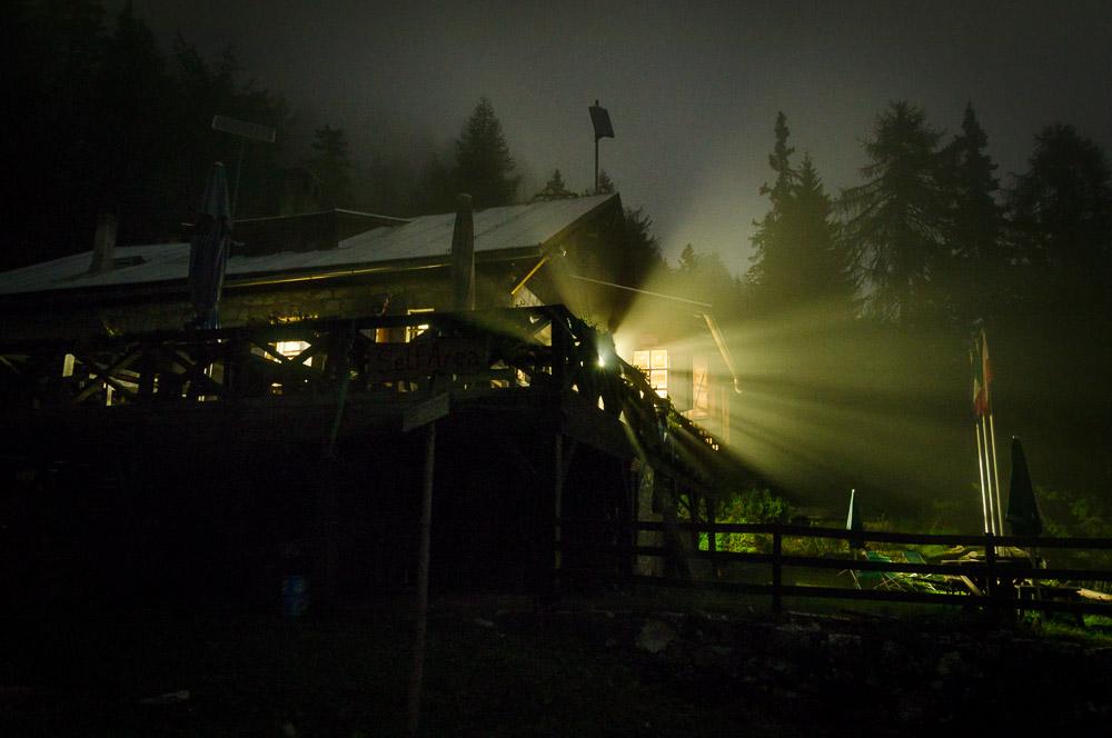 Nachtaufnahme Überetscher Hütte