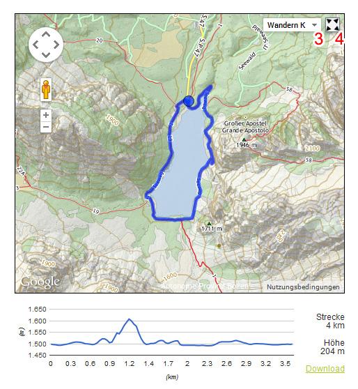 Südtirolkarte mit Wanderebene der Autonomen Provinz Bozen - Schummerungskarte