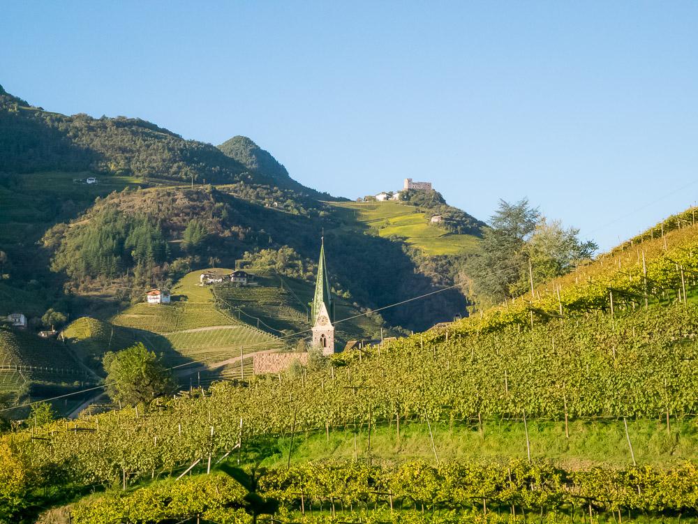 Blick von der Oswaldpromenade Richtung Burg Rafenstein