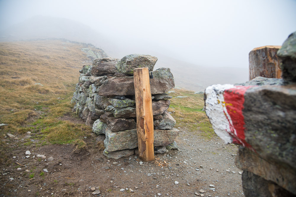 Grenzmauer wandern zum Latzfonser Kreuz