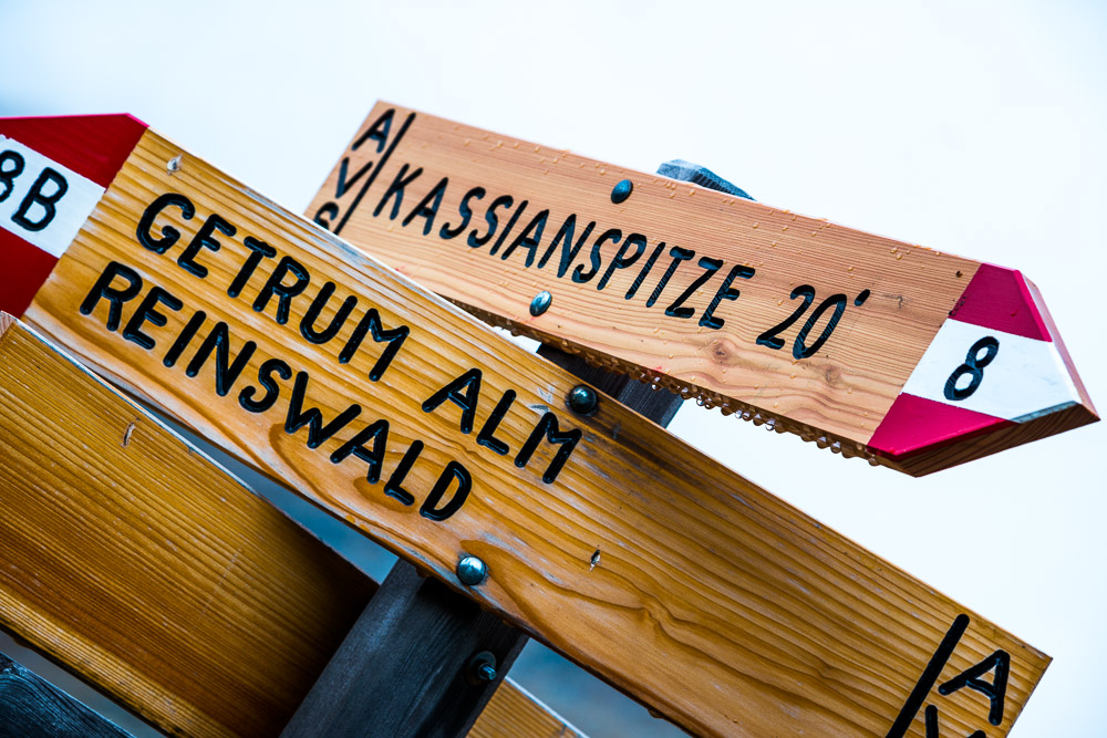 Wegweiser zu Kasssianspitze
