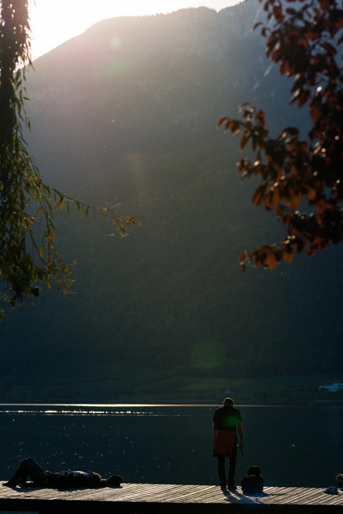 Letzte Sonnenstrahlen am Kalterer See