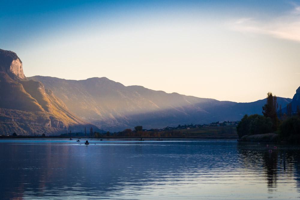 Fischerboote auf dem Kalterer See