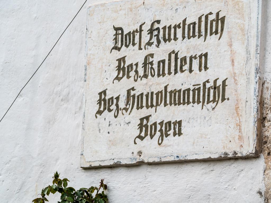 Bezirkshauptmannschaft Bozen, Bezirk Kaltern, Dorf Kurtatsch