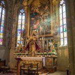 Kirche Tramin zu Ostern