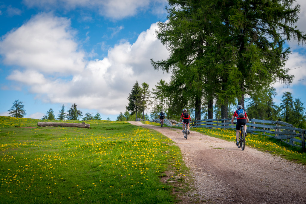 Mountainbiker am Möltner Joch, Tschöggelberg