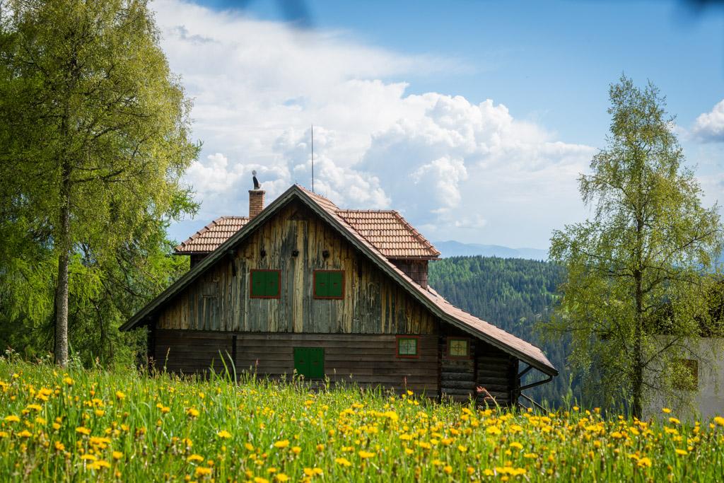 Almwiese, Hütte