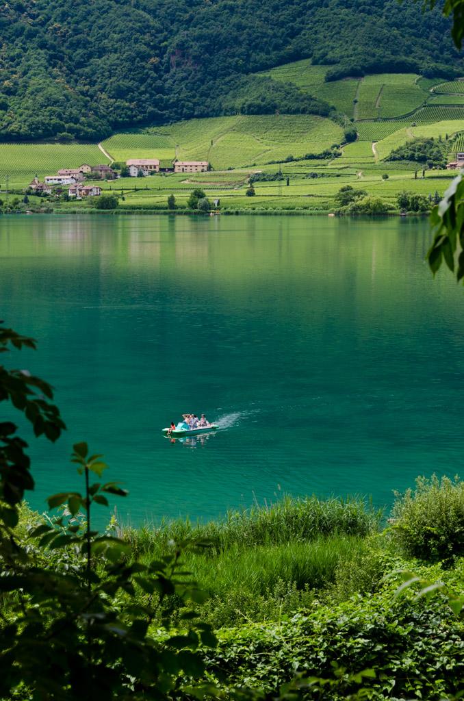 Kalterer See Blick zum Westufe