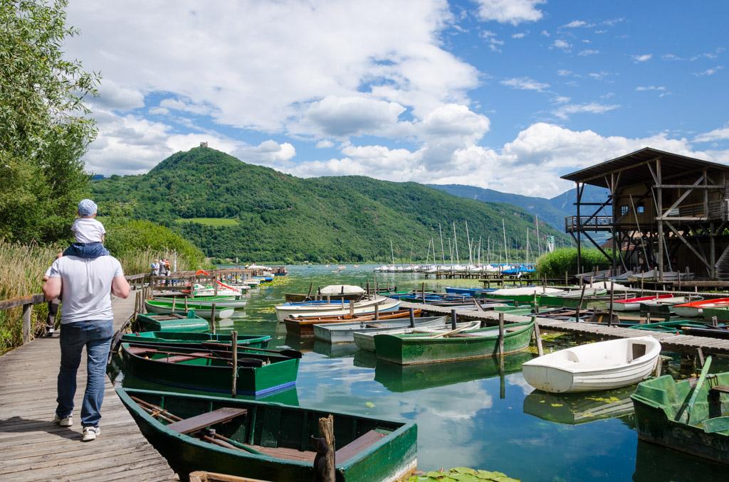 Steg beim Gasthaus Geier am Kalterer See