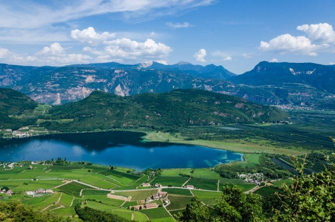 Blick von Altenburg zum Kalterer See