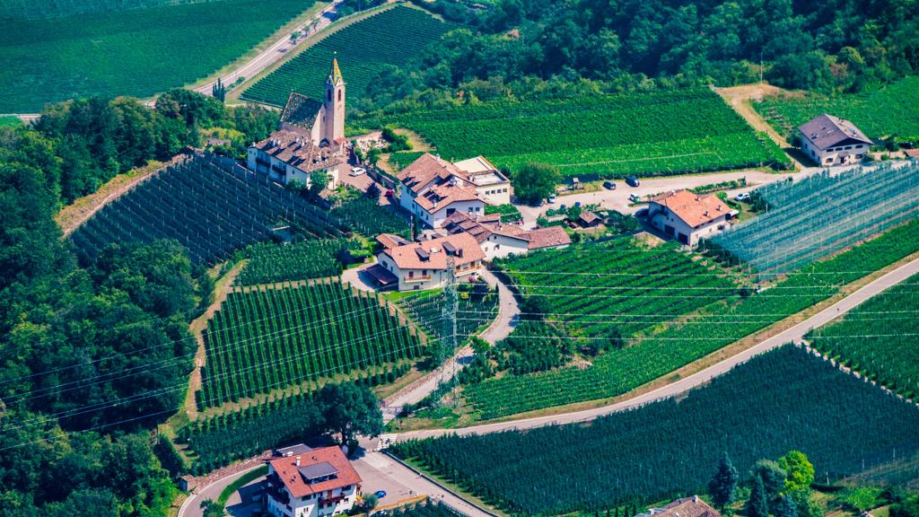 Blick aus der Vogelperspektive auf Altenburg
