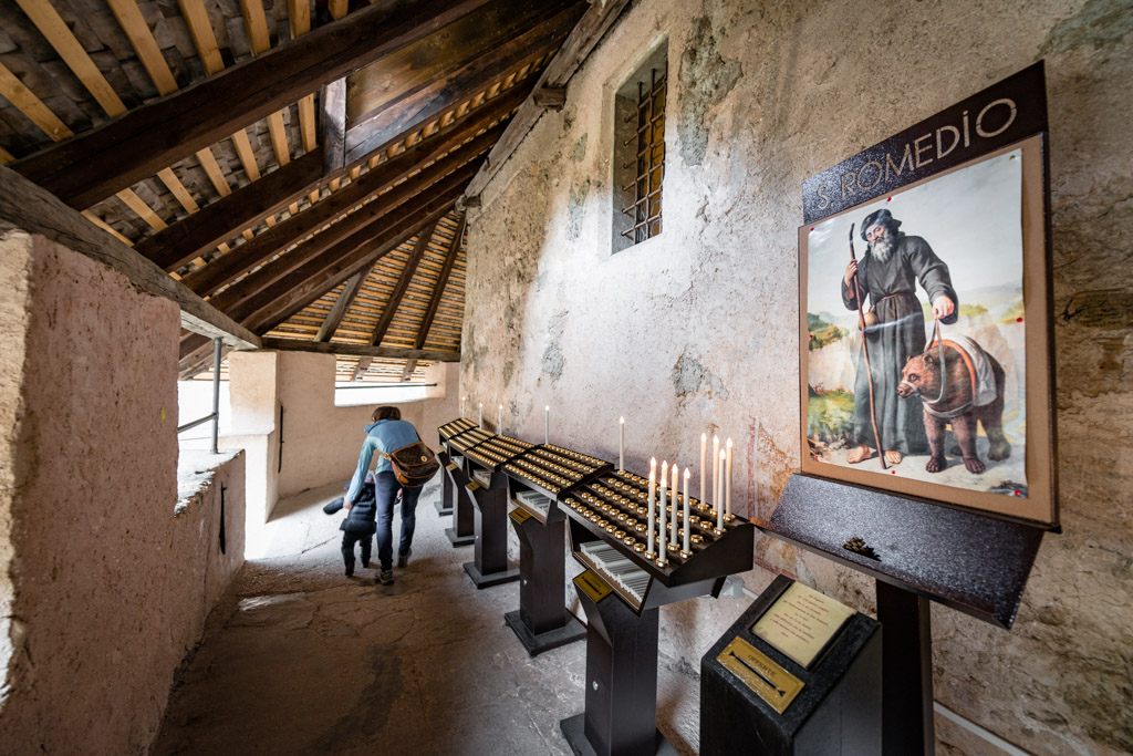 Kerzenkammer Santuario San Romedio