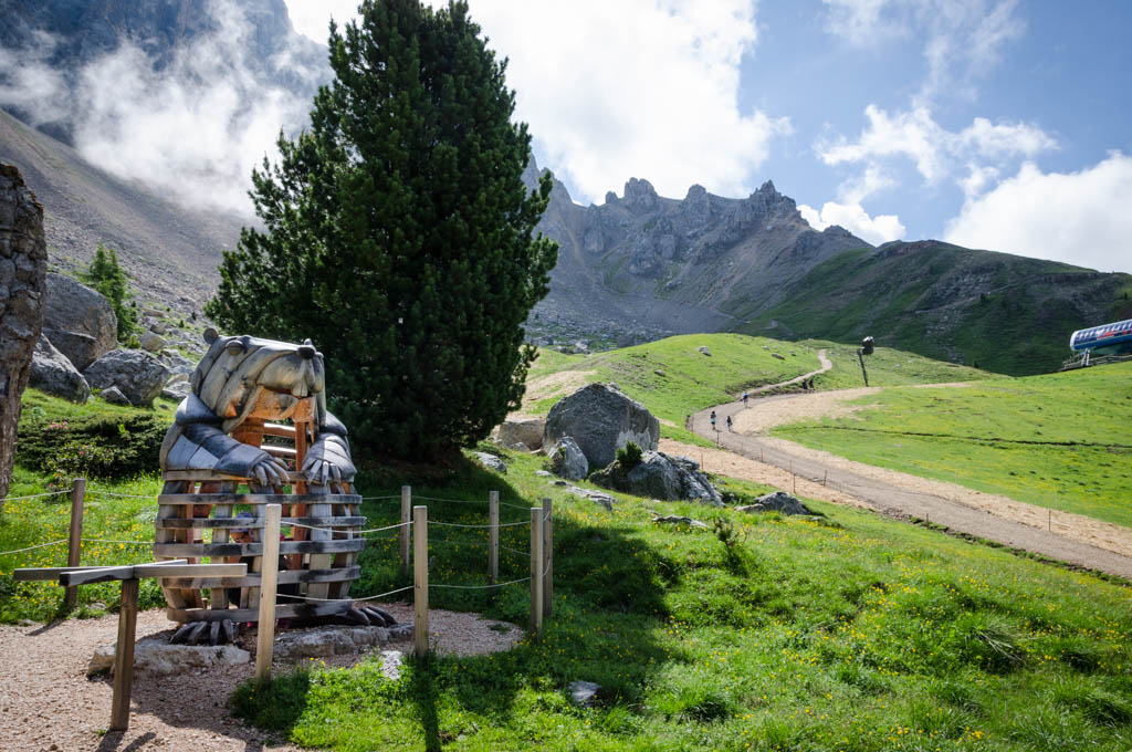 Station Murmeltier am Erlebniswanderweg Natur im Latemarium