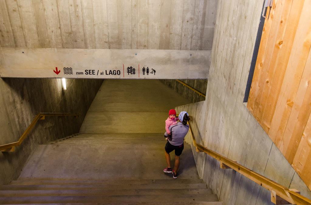 Treppe zum Karersee