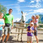 Irene, Uwe, Anni mit Schimmel Tierwelt Rainguthof