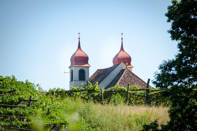 Die Gleifkirche auf den Kalvarienberg über Eppan