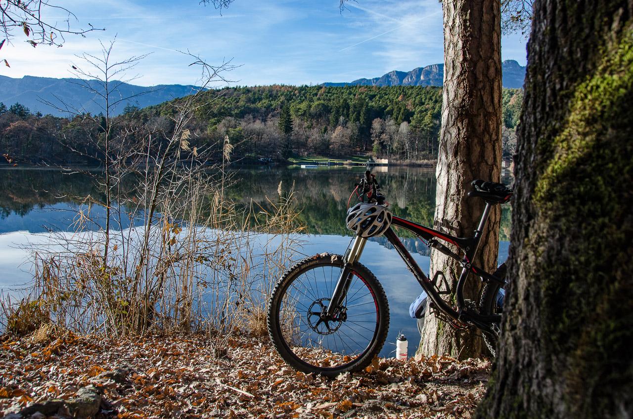 Mountainbike im Montiggler Wald